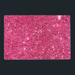 """Glamour Hot Pink Glitter Placemat<br><div class=""""desc"""">A slightly bokeh style image of sparkling glitzy neon pink glitter.  Add a touch of glamor and luxury to your life!  Note: Glitter is printed.</div>"""