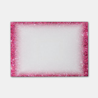 Glamour Hot Pink Glitter Post-it® Notes