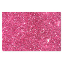 Glamour Hot Pink Glitter Tissue Paper