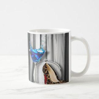 glamour martini cocktail party girl stilletos coffee mug