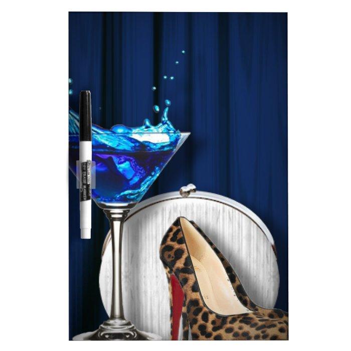 glamour martini cocktail party girl stilletos Dry-Erase board