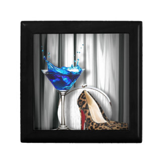 glamour martini cocktail party girl stilletos gift box