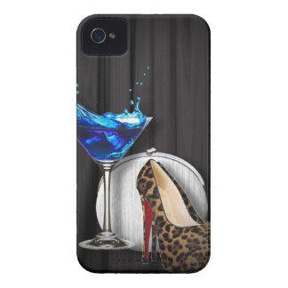 glamour martini cocktail party girl stilletos iPhone 4 case