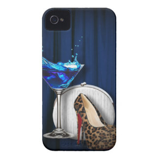 glamour martini cocktail party girl stilletos iPhone 4 Case-Mate case
