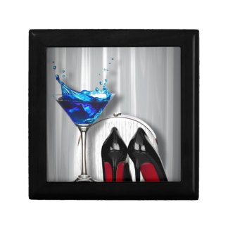 glamour martini cocktail party girl stilletos jewelry box