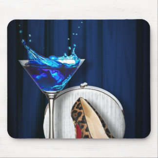 glamour martini cocktail party girl stilletos mouse pad