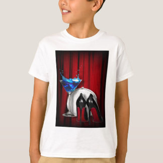 glamour martini cocktail party girl stilletos T-Shirt
