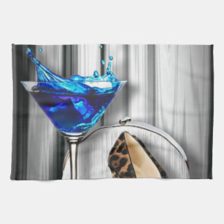 glamour martini cocktail party girl stilletos towel