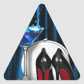 glamour martini cocktail party girl stilletos triangle sticker