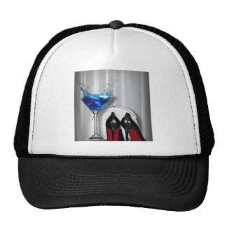 glamour martini cocktail party girl stilletos trucker hat