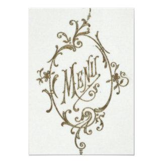Glamour Menu Card