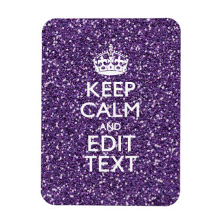 Glamour Purple Keep Calm Personalized Magnet