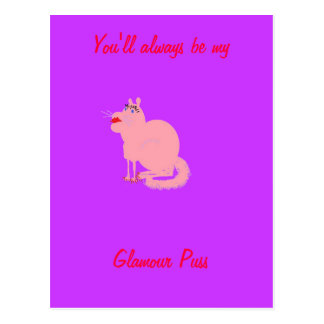 Glamour Puss Postcard
