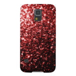 Glamour Red Glitter sparkles Samsung Galaxy S5 Galaxy S5 Case