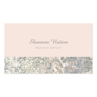 Glamour Sequin Glitter Blush Pink Business Card
