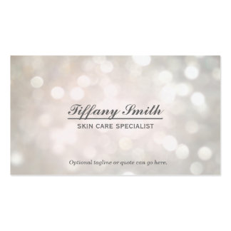 Glamour Sparkle White Bokeh Chic Business Card