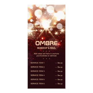 Glamour Stylish Gold Glitter Sparkles Menu List Rack Card Template