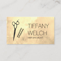 Glamour Stylist Scissors and Hair Pin Business Card