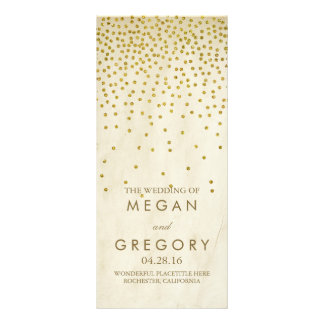 Glamour Vintage Gold Confetti Wedding Programs