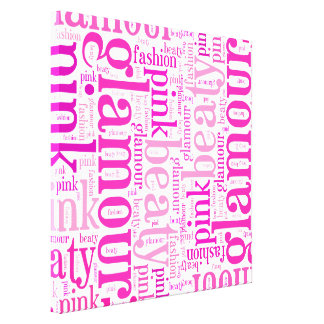 Glamour word cloud canvas print