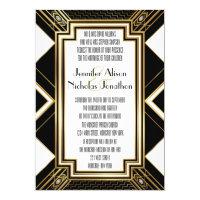 Glamourous Art Deco Geometric Wedding Invitation (<em>$1.90</em>)