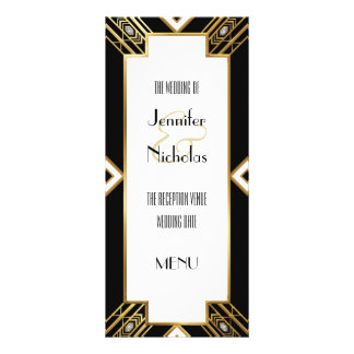 Glamourous Art Deco Geometric Wedding Menu