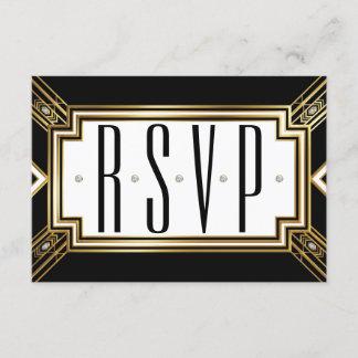 Glamourous Art Deco Geometric Wedding RSVP
