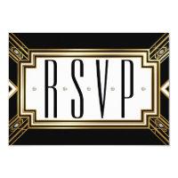 Glamourous Art Deco Geometric Wedding RSVP Card (<em>$1.70</em>)