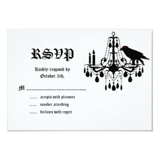 Glamourous Skeletons RSVP 3.5x5 Paper Invitation Card