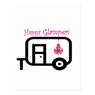 ¡Glamper feliz! Postal