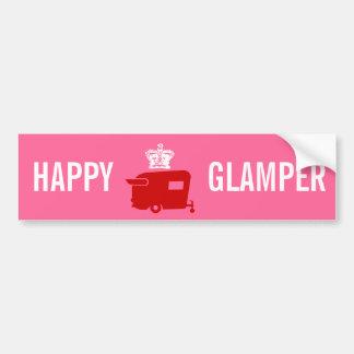 Glamper feliz - rv - humor del remolque del viaje pegatina para auto