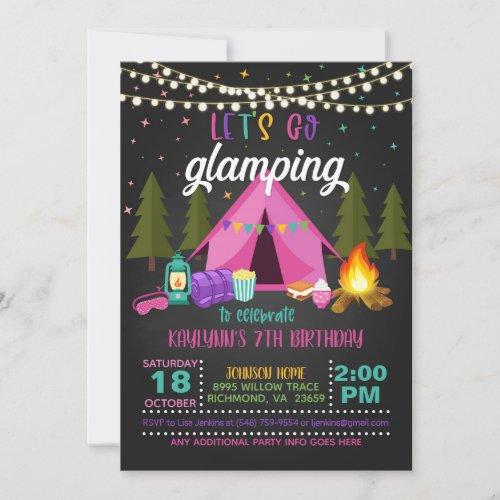 Glamping Birthday Invitation