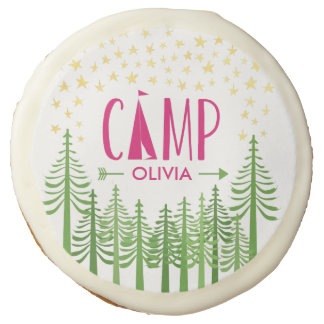 Glamping Party Sugar Cookie