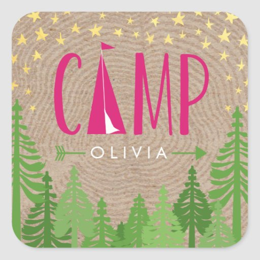 Glamping Personalized Sticker