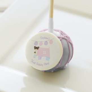 Glamping Sleepover Party Cake Pops