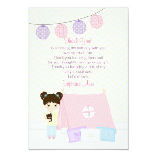 Glamping Sleepover Party Card
