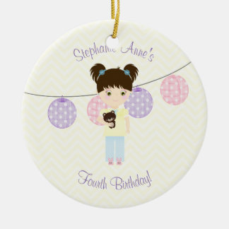 Glamping Sleepover Party Ceramic Ornament