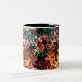 Glance Inside Inside Glances: Modern Art Two-Tone Coffee Mug