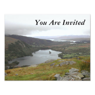 Glanmore Lake from Healy Pass Ireland. 4.25x5.5 Paper Invitation Card