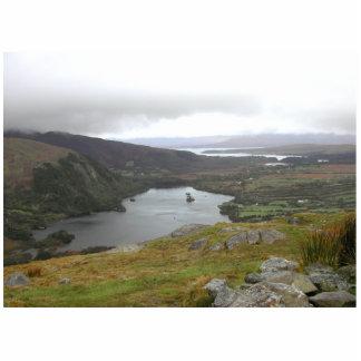 Glanmore Lake from Healy Pass Ireland. Cutout
