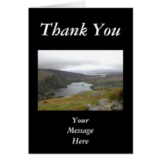 Glanmore Lake from Healy Pass Ireland. Greeting Card