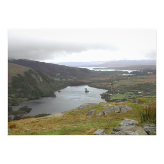 Glanmore Lake from Healy Pass Ireland. Personalized Invitation