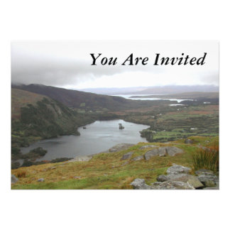 Glanmore Lake from Healy Pass Ireland. Announcement