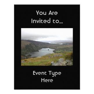 Glanmore Lake from Healy Pass Ireland. Custom Invitations