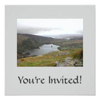 Glanmore Lake from Healy Pass Ireland. Invitation