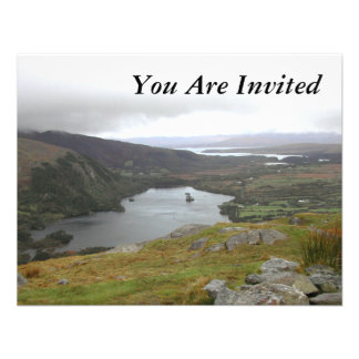 Glanmore Lake from Healy Pass Ireland. Personalized Announcement