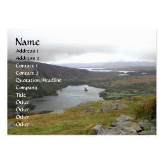 Glanmore Lake from Healy Pass Ireland. Large Business Cards (Pack Of 100)