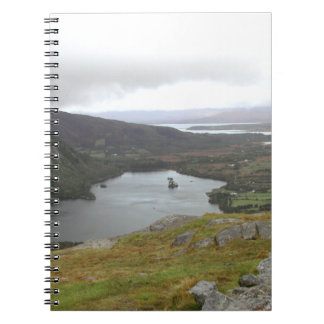 Glanmore Lake from Healy Pass Ireland. Note Books