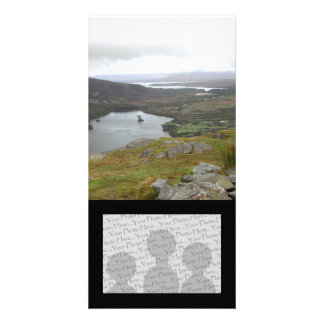 Glanmore Lake from Healy Pass Ireland. Customized Photo Card