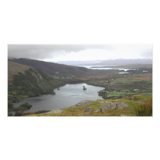 Glanmore Lake from Healy Pass Ireland. Photo Card Template